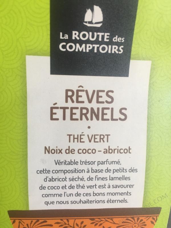 RÊVES ÉTERNELS THÉ VERT NOIX DE COCO ABRICOT - 100G
