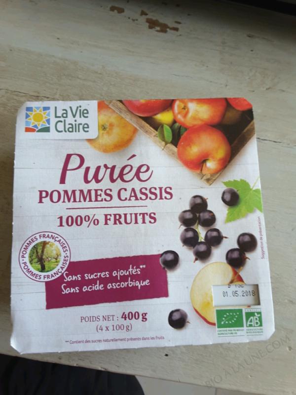 PURÉE POMME-CASSIS - 400G