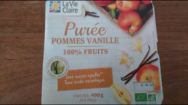 PURÉE POMMES VANILLE - 400G