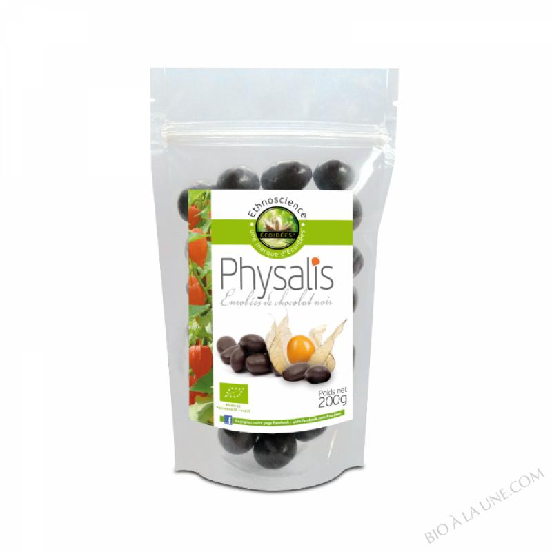 Physalis séchés enrobés de chocolat noir 200gr