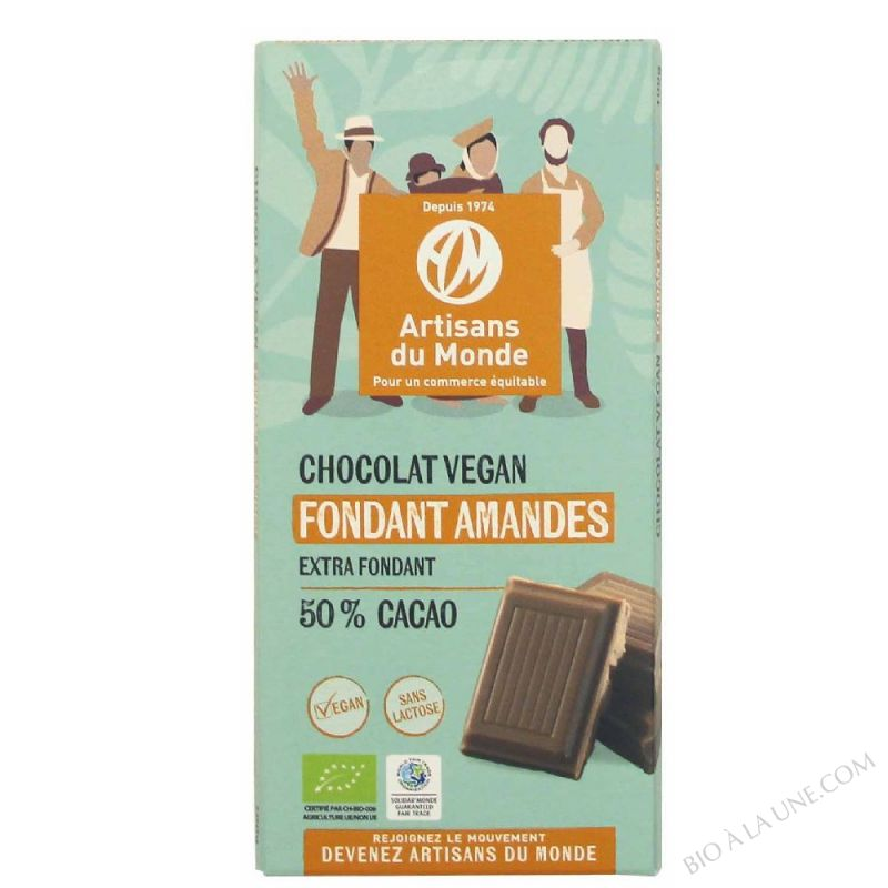 CHOCOLAT VÉGÉTAL FONDANT AMANDE 50% - 100G