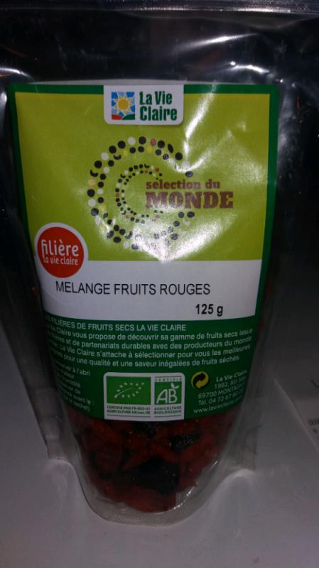 MÉLANGE FRUITS ROUGES - 125G