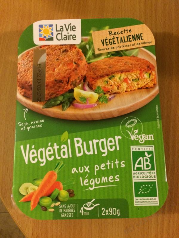 VEGETAL BURGER AUX PETITS LEGUMES - 180G