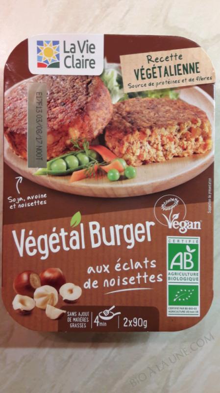 VÉGÉTAL BURGER AUX ÉCLATS DE NOISETTES - 180G