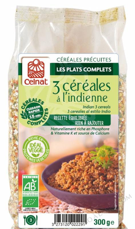 CELNAT Boulgour 3 Céréales à l\'Indienne BIO - 300g