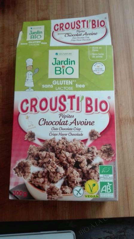 CROUSTI'BIO PÉPITES CHOCOLATS AVOINE - JARDIN BIO - 300 G