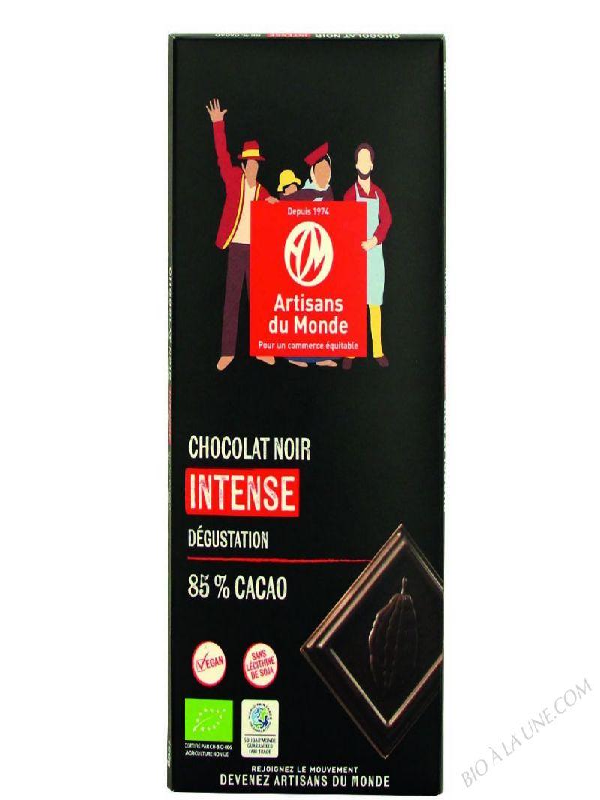 CHOCOLAT NOIR - ARTISANS DU MONDE - 100 G