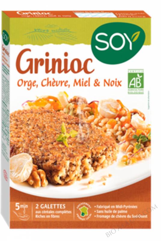 Grinioc orge, chèvre, miel et noix - Soy - 2 x 100g (2 galettes)