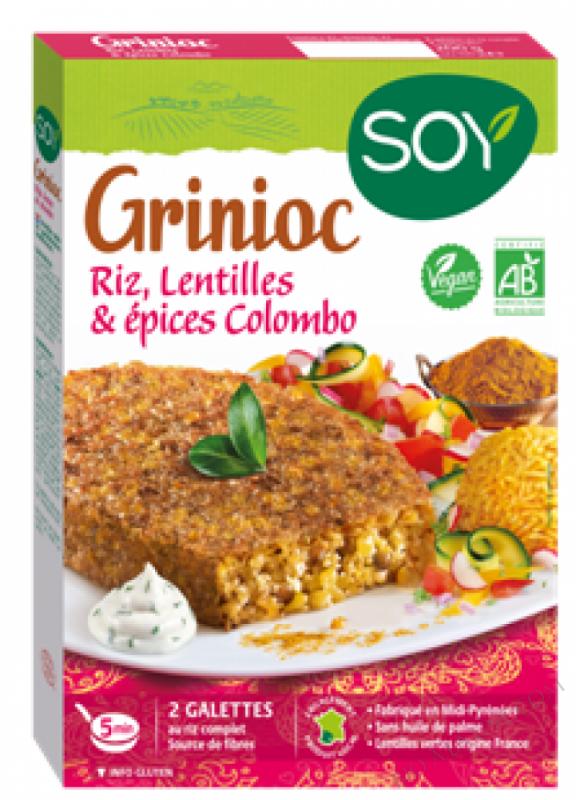 GRINIOC RIZ, LENTILLES & COLOMBO - 2 X 100 G