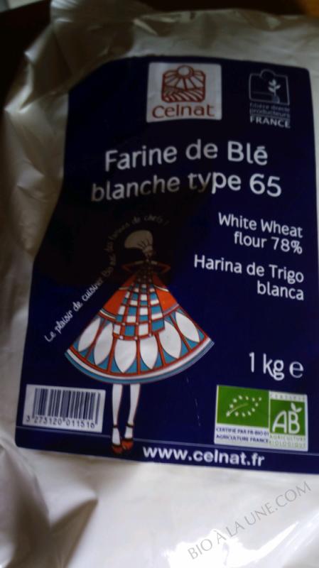 FARINE DE BLE BLANCHE TYPE 65 - 1KG