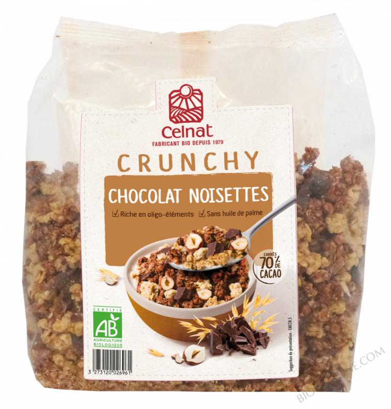 CELNAT Crunchy Chocolat Noisettes BIO 500G