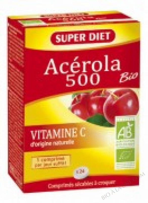 ACEROLA 500 BIO - 24 comprimés à croquer