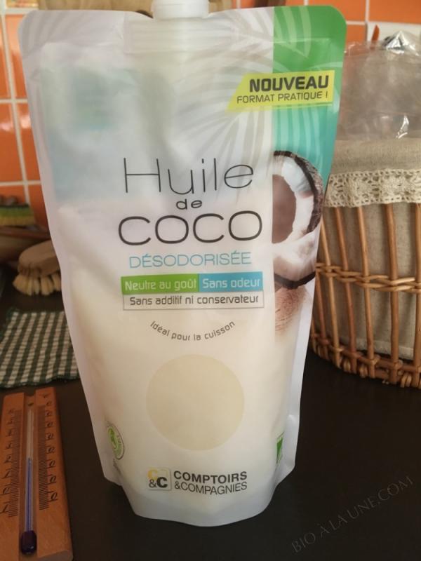 HUILE DE COCO Dà‰SODORISà‰E BIO - 500G