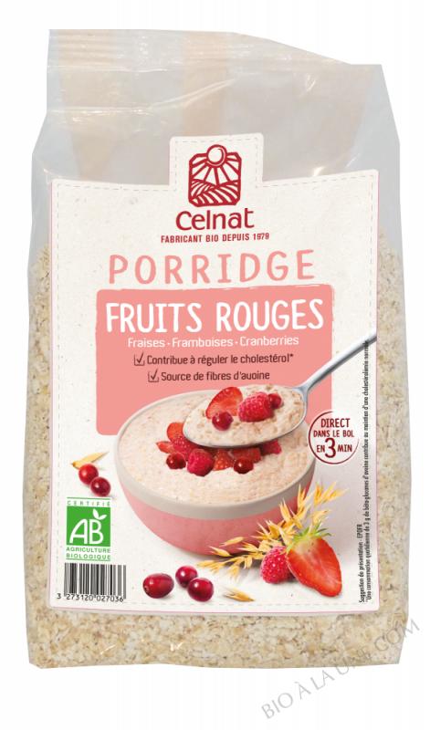 CELNAT Porridge Fruits Rouges BIO - 375g
