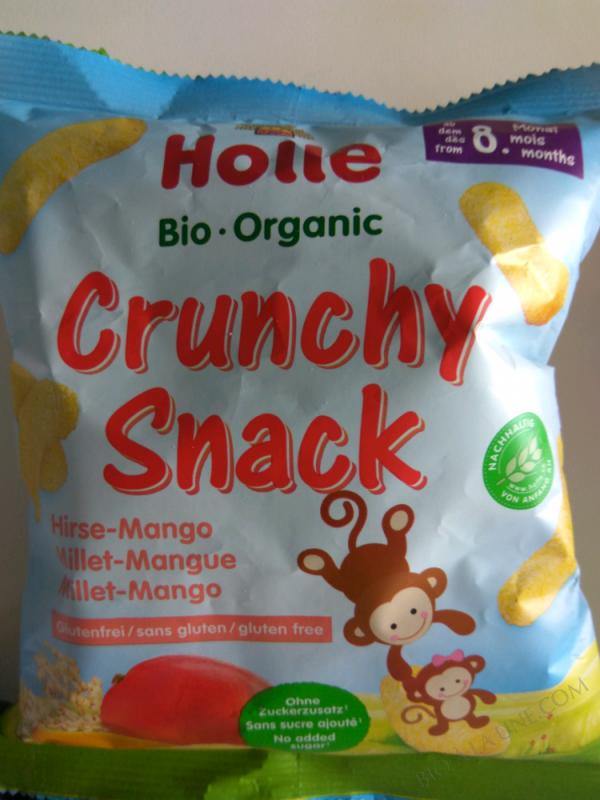 Holle Crunchy Snack Hirse Mango - 25 G