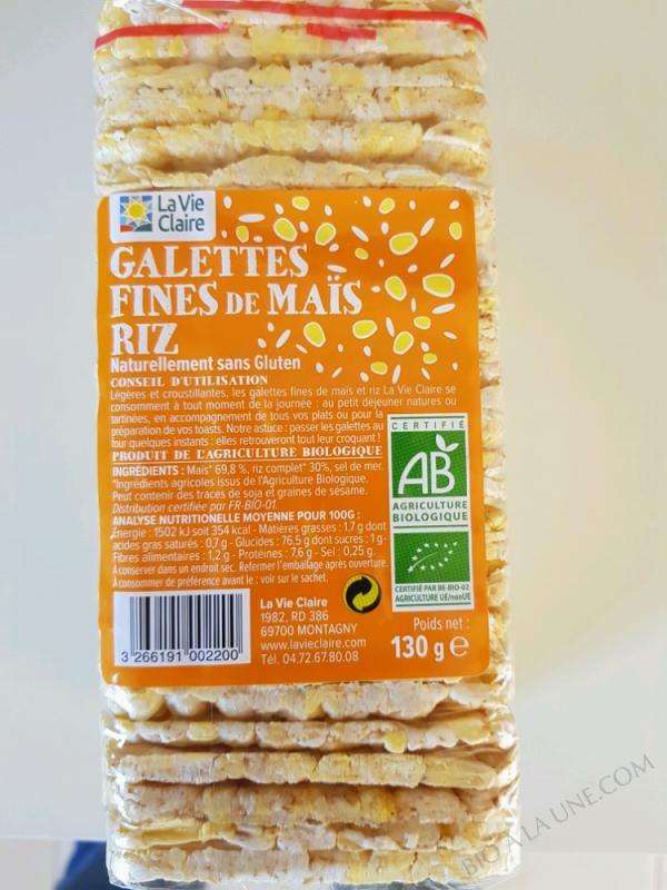 GALETTES FINES MAÏS RIZ - 130 G