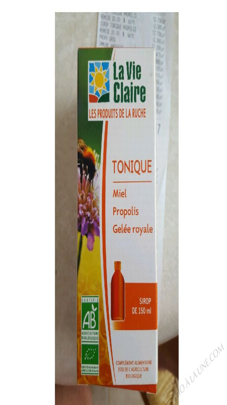 SIROP TONIQUE - MIEL, PROPOLIS, GELÉE ROYALE - 150ML