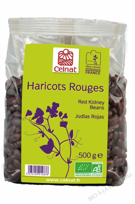 CELNAT Haricots Rouges  Origine France BIO - 500g