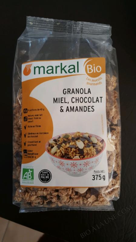 GRANOLA MIEL CHOCOLAT ET AMANDE - MARKAL - 375 G