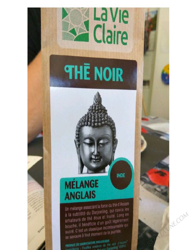 ENGLISH BLACK TEA, LA VIE CLAIRE -  100 G