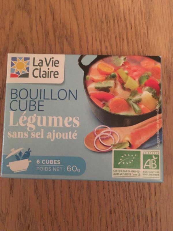 BOUILLON CUBE LÉGUMES SANS SEL AJOUTÉ - 60G
