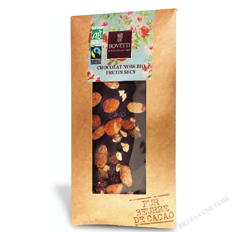 CHOCOLAT NOIR FRUITS SECS - 100G