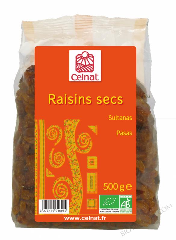 CELNAT Raisins Secs Sultanines BIO - 500g