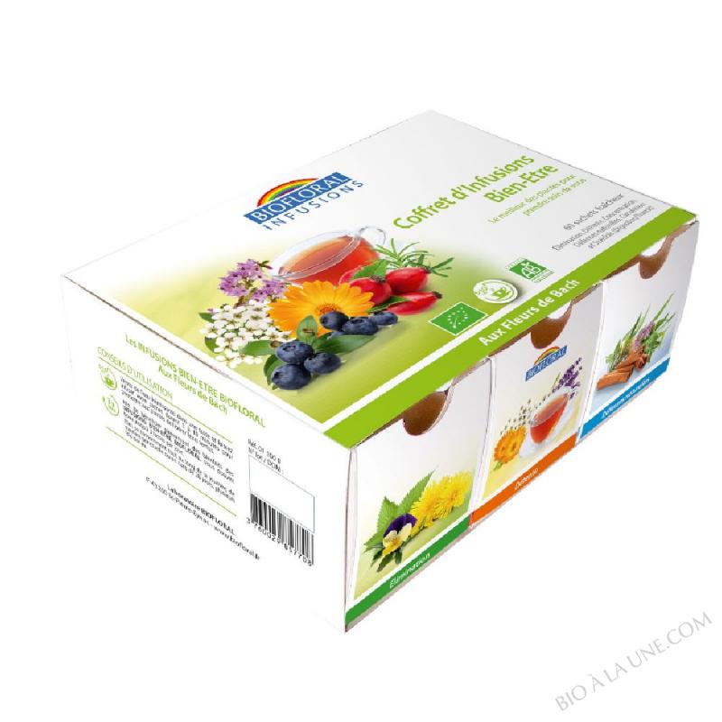 INFU Coffret 6 infus aux fleurs de Bach BIO - boite x60