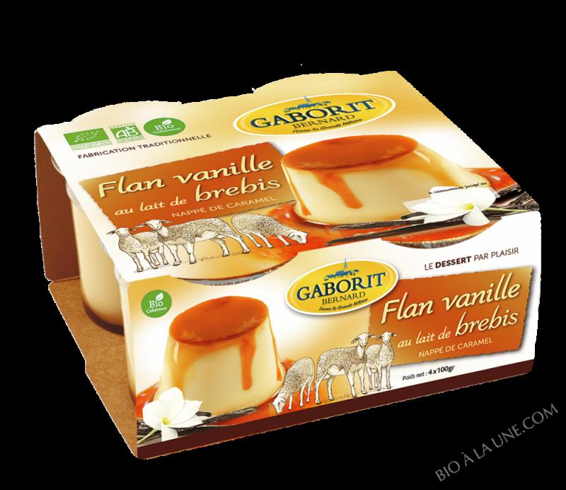Flan de brebis vanille nappé de caramel 4x100g