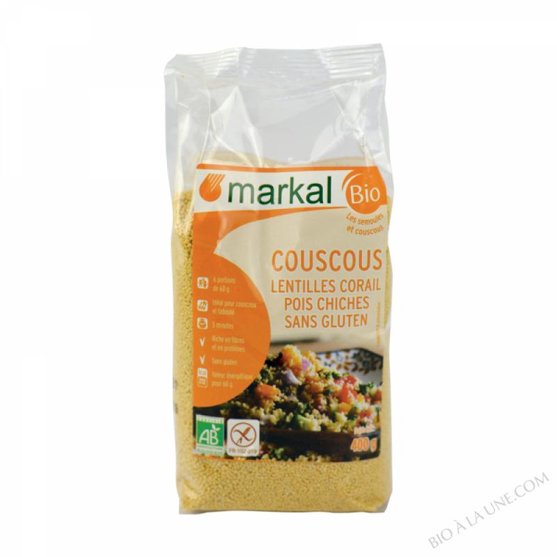 COUSCOUS LENTILLES CORAIL POIS CHICHES - 400G