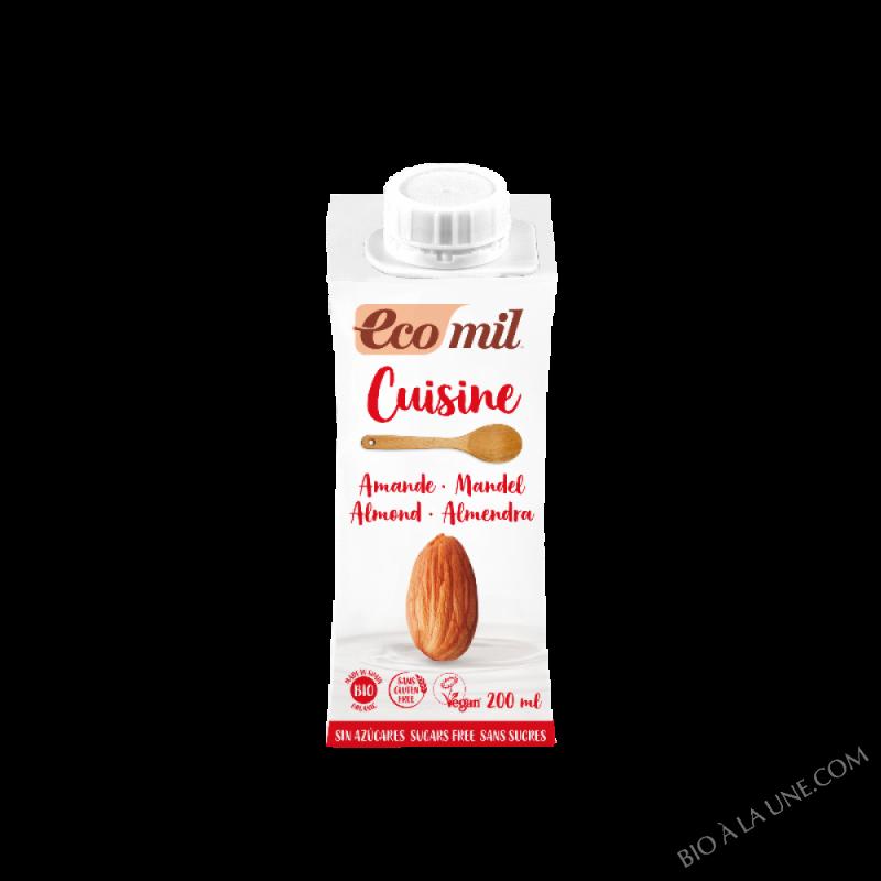 ECOMIL-Creme cuisine Amande 200 ml