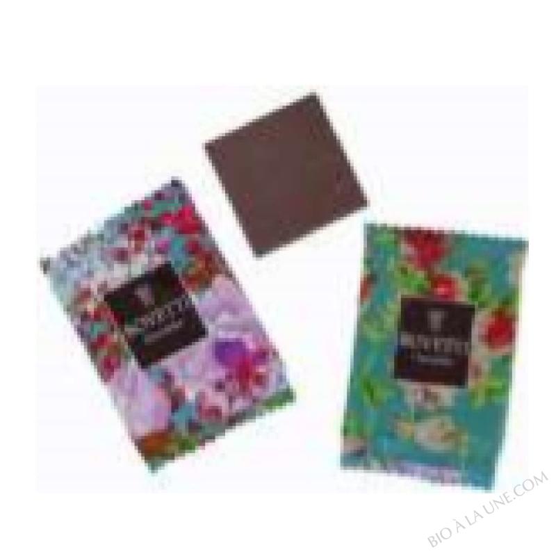 Mini carrés Chocolat Noir bio 73% Bovetti 1KG