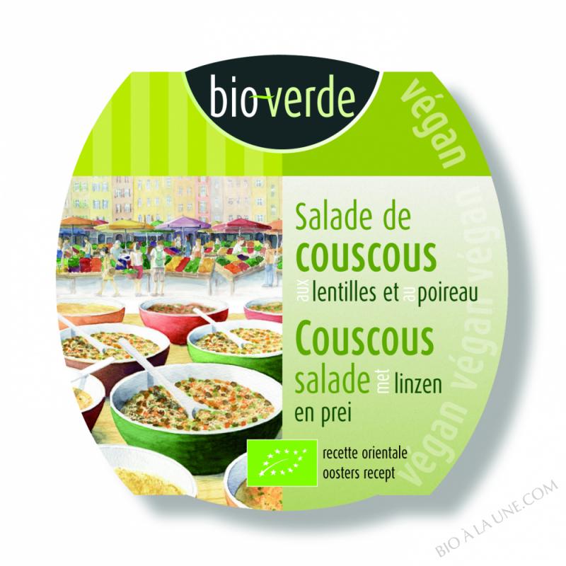 Salade de couscous aux lentilles et au poireau, végan, 125g