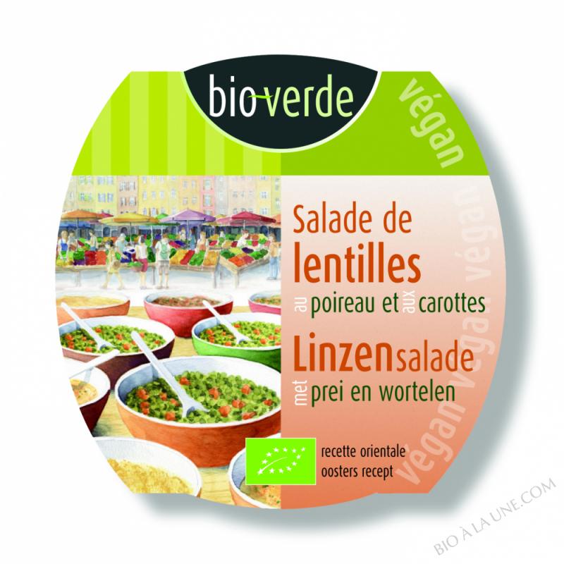 Salade de lentilles au poireau et aux carottes, végan, 125g