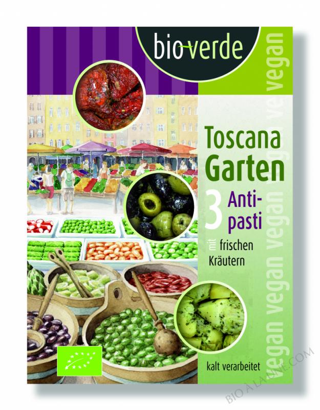 Toscana Garten, 3 antipasti aux herbes fraiches,