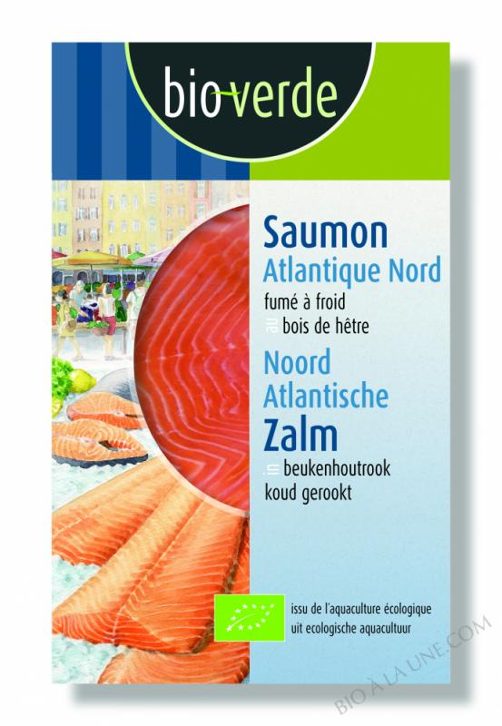 Saumon Atlantique Nord fumé à froid, 100g