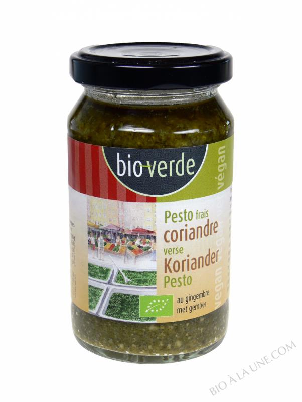 Pesto frais à la coriandre et au gingembre, 165g
