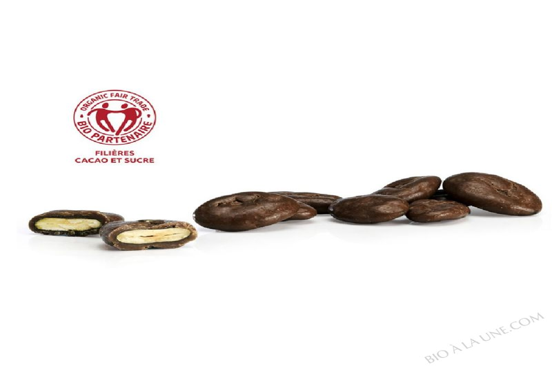Graines de courge enrobées de chocolat noir