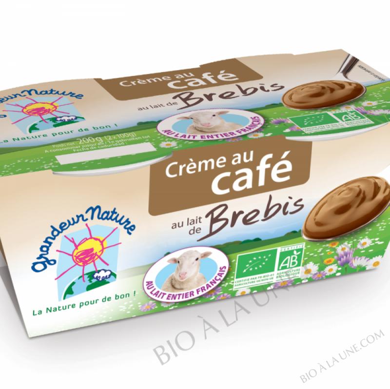 CREME LAIT DE BREBIS AU CAFE -  2X100G