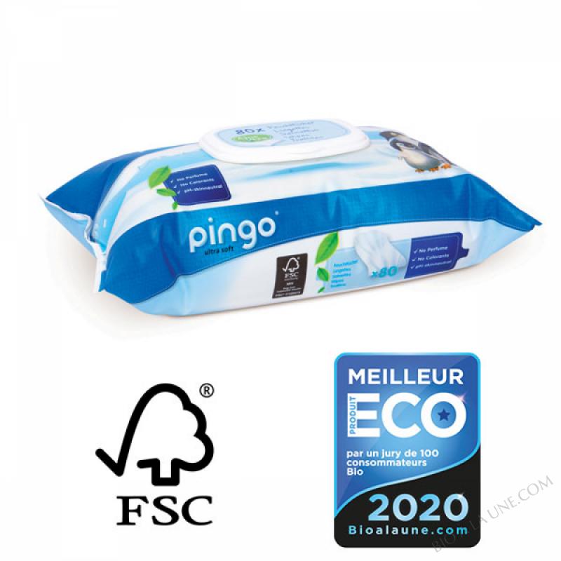 PINGO Lingettes Ecologiques - Paquet de 80