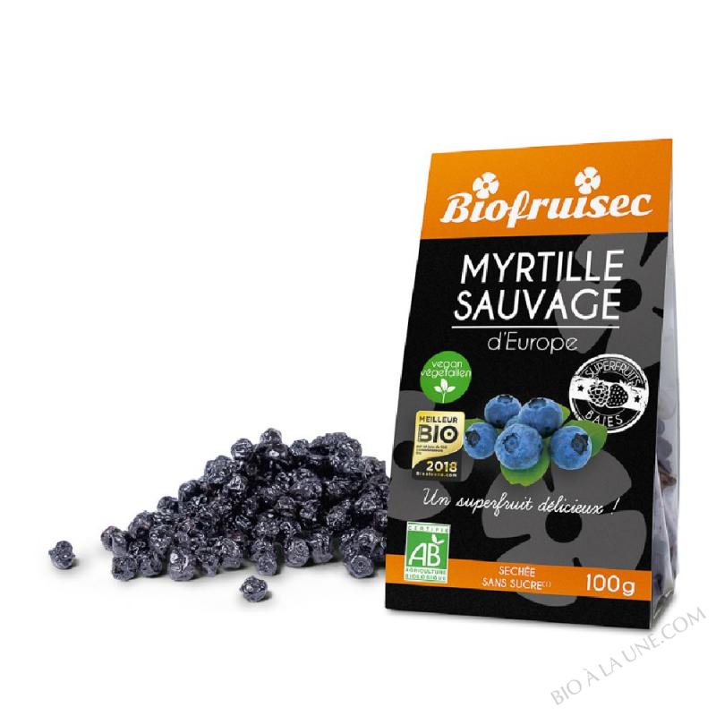 Myrtille sauvage des Alpes Dinariques séchée | Sachet zip 100 g