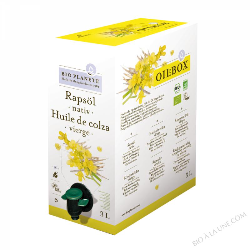 Huile de colza vierge biologique/Rapsoel nativ