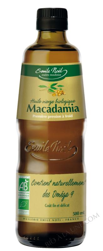 Huile vierge de macadamia bio - 1/2L