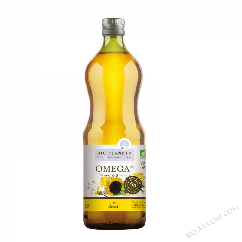 "Huile ""Omega+"", alliance de 5 huiles. biologique"