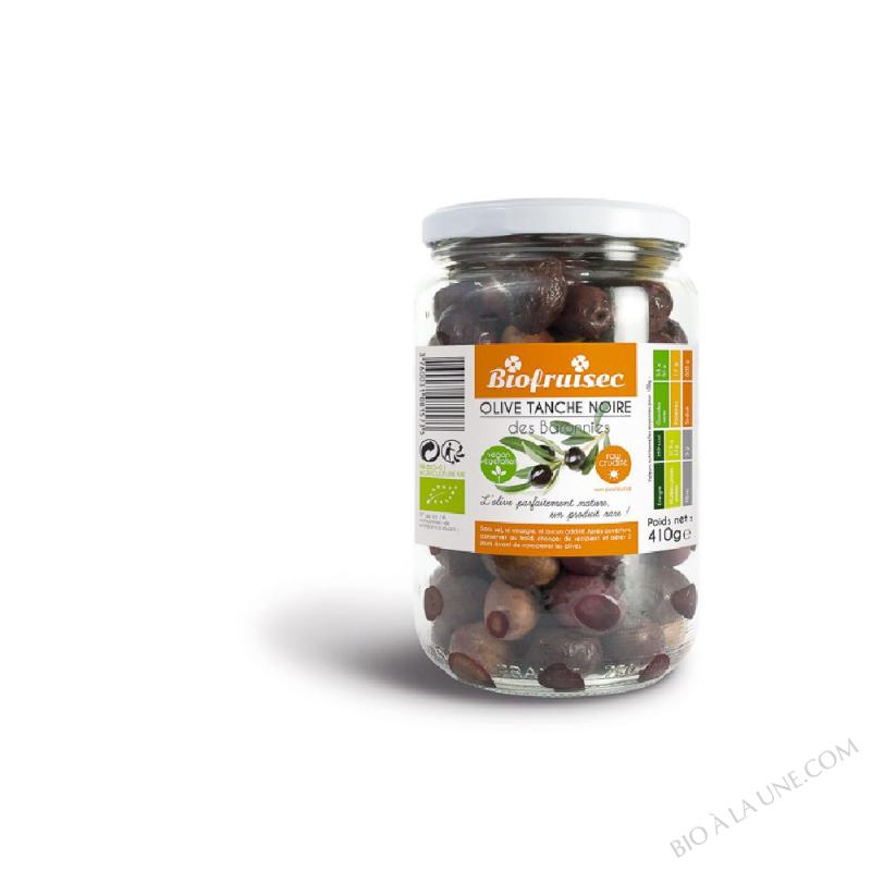 Olive Tanche noire des Baronnies nature non pasteurisée | Bocal 410 g