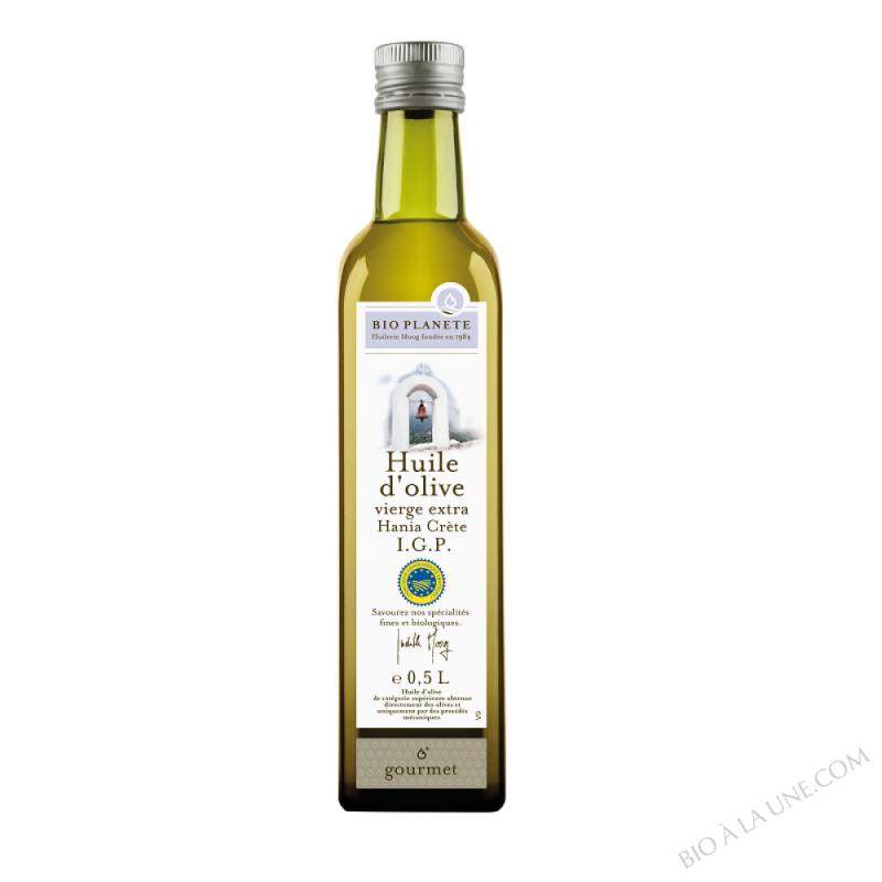 Huile d'olive vierge extra, IGP Chania Kritis Grèce. biologique 0.5L