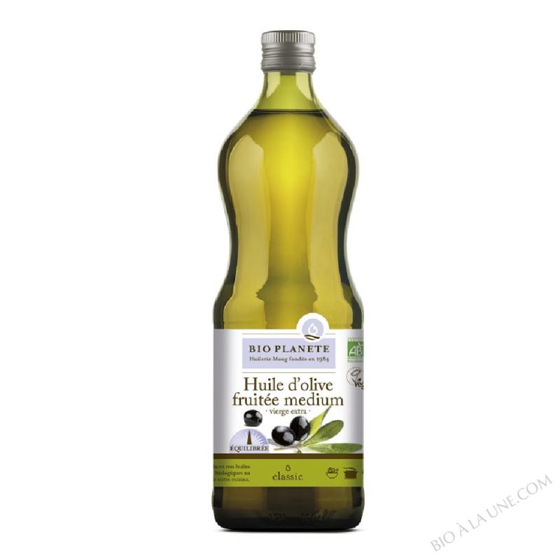 Huile d'olive vierge extra, fruitée medium. biologique