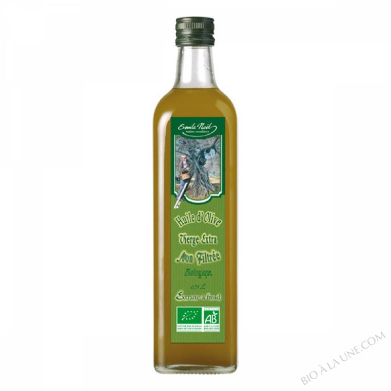 Huile d'olive vierge extra bio non filtrée - 75cl