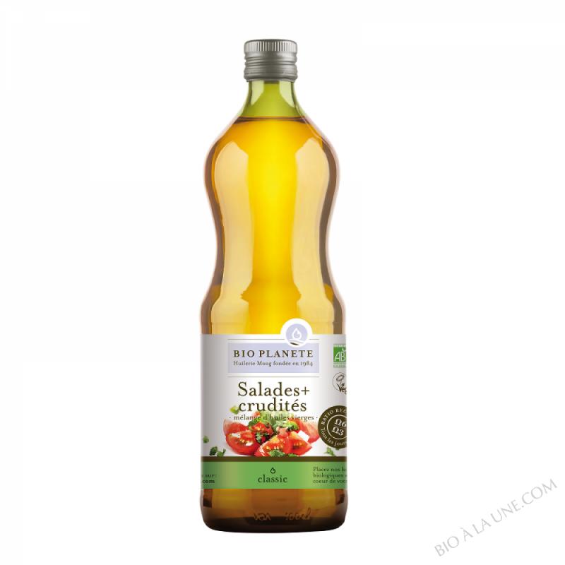 """Huile """"Salades+Crudités"""", mélange d'huiles vierges. biologique"""