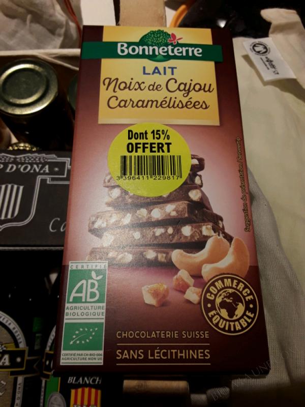 Chocolat Lait Noix De Cajou Caramélisées - 85g
